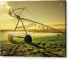 Irrigator Machine At Palouse Acrylic Print by Chinaface