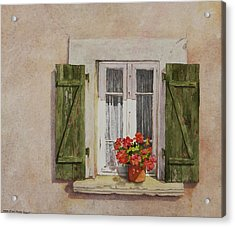 Irvillac Window Acrylic Print by Mary Ellen Mueller Legault