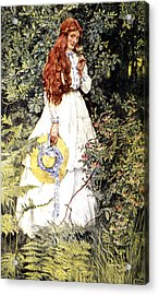 Is She Not Pure Gold My Mistress Acrylic Print by Eleanor Fortescue Brickdale