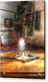 Is This Right Mr. Edison? Acrylic Print