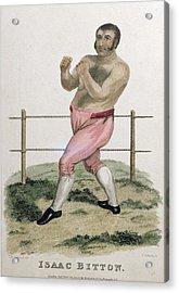 Isaac Bitton, Engraved By P. Roberts Acrylic Print by Isaac Robert Cruikshank
