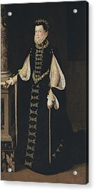 Isabel De Valois Holding A Portrait Acrylic Print