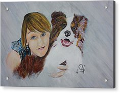 Isabell Acrylic Print by Klaus Rach