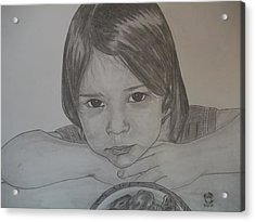 Acrylic Print featuring the drawing Isabella by Justin Moore