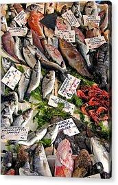 Ischia Fish Market Acrylic Print