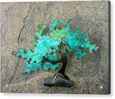 Ishitsuki Copper Bonsai Acrylic Print by Vanessa Williams