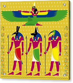 Isis And Eygptian Gods Acrylic Print by Neil Finnemore
