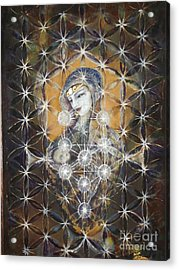 Isis And Horus Acrylic Print by Silk Alchemy