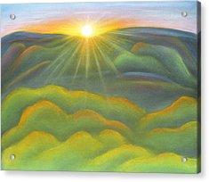 Isla Gorge Sunset Acrylic Print