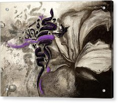 Islamic Calligraphy 014 Acrylic Print by Catf