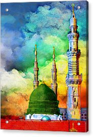 Islamic Painting 009 Acrylic Print by Catf