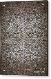 Islamic Wooden Texture Acrylic Print