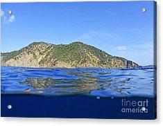 Island And Water Surface Acrylic Print by Sami Sarkis