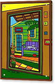 Island Arts Garden - Cedar Key Acrylic Print