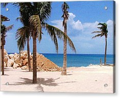 Acrylic Print featuring the photograph Island Breeze by Judy Palkimas