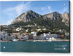 Island Capri Panoramic Sea View Acrylic Print