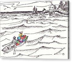 Island Christmas In Coastal Maine Acrylic Print by Robert Parsons