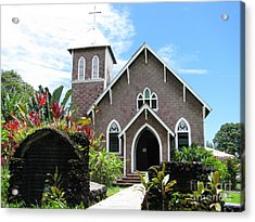 Island Church Acrylic Print by Michael Krek