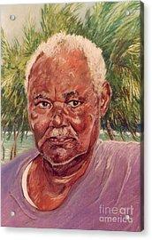 Island Fisherman Acrylic Print by John Clark