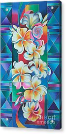 Island Flowers - Frangipani Acrylic Print