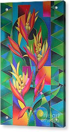 Island Flowers - Heliconia Acrylic Print