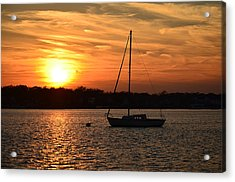 Acrylic Print featuring the photograph Island Heights Sunset by Brian Hughes