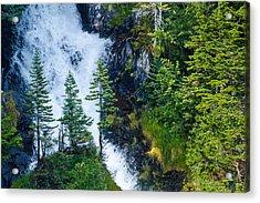 Island In The Cascade Acrylic Print by Adam Pender