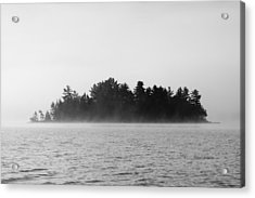 Island In The Mist Acrylic Print by Steven Clipperton