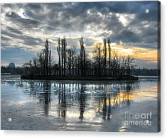 Island In Winter - Reflection Acrylic Print
