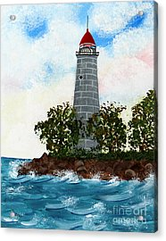 Island Lighthouse Acrylic Print by Barbara Griffin