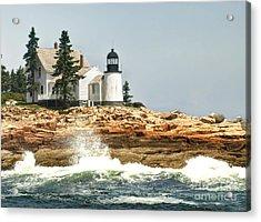 Island Lighthouse Acrylic Print by Raymond Earley