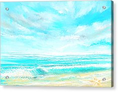 Island Memories - Seascapes Abstract Art Acrylic Print by Lourry Legarde