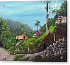 Island Mountains Acrylic Print