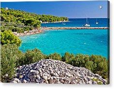 Island Murter Turquoise Lagoon Beach Acrylic Print
