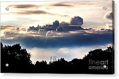 Island Of Clouds Acrylic Print by Daniel Heine