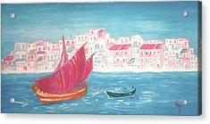 Island Of Crete Acrylic Print