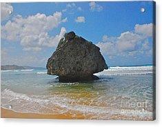 Island Rock Acrylic Print by Blake Yeager