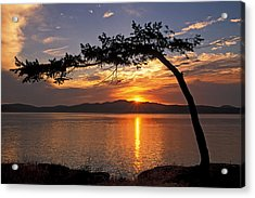 Acrylic Print featuring the photograph Island Sunrise by Inge Riis McDonald
