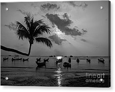 Island Sunset Acrylic Print by Alex Dudley