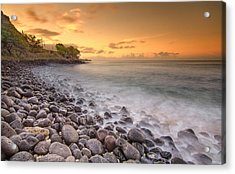Island Sunset In Oahu Acrylic Print
