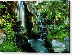 Island Waterfall Acrylic Print by Craig Wood