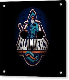Islanders Goalie Mask Acrylic Print