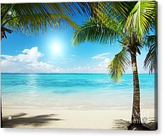 Islands In The Caribbean Sea Acrylic Print by Boon Mee