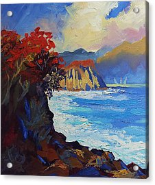 Islands Seascape Original Oil Painting Acrylic Print