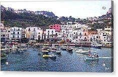 Acrylic Print featuring the photograph Isle Of Capri by Ze  Di