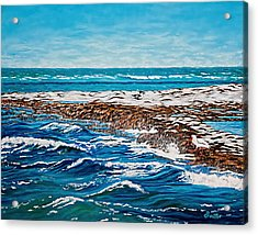 Acrylic Print featuring the painting Isle Of Innocence by Donna Proctor