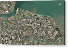 Isle Of Sheppey, Uk, Aerial View Acrylic Print by Science Photo Library