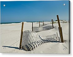 Isolated Dunes Acrylic Print by Denis Lemay