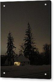 Isolated House Acrylic Print by Guy Ricketts