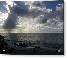 Isolated Showers Acrylic Print by Kerry Lapcevich